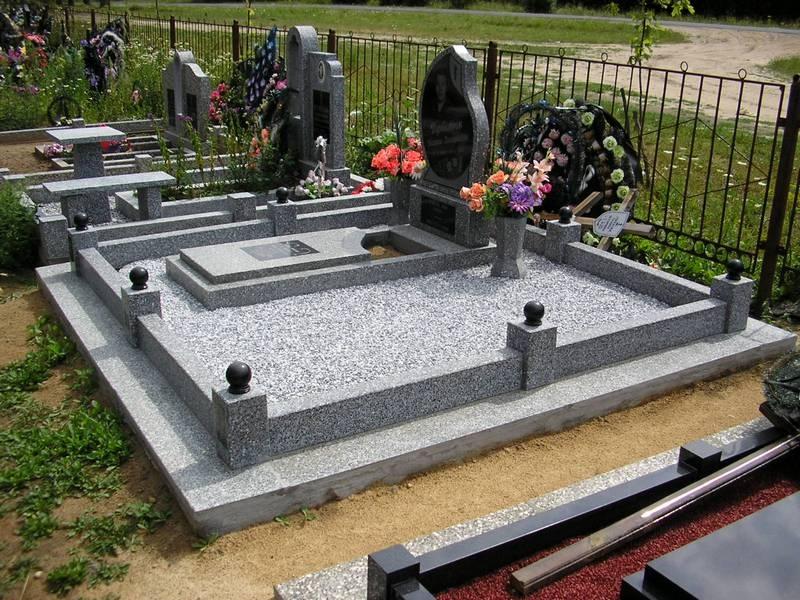 Благоустройство мест захоронения - Декоративный (цветной) щебень