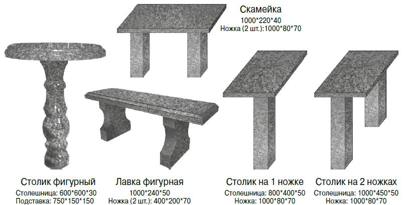 серые столы